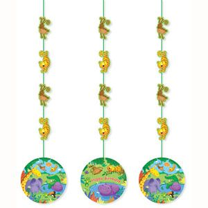 20990945 - Jungle Buddies Hanging Decorations. Jungle Buddies Hanging Cutouts - Pack of 3. Please note: approx. 14 day delivery time.