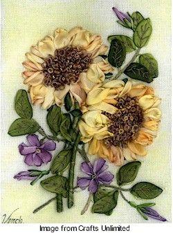 Ribbon needlepoint/stitchery. Gorgeous vintage style crafting: Ribbons Flowers, Needle Work, Gorgeous Vintage, Ribbons Embroidery, Style Crafts, Ribbons Needlepoint Stitchery, Silk Ribbons, Ribbons Work, Vintage Style