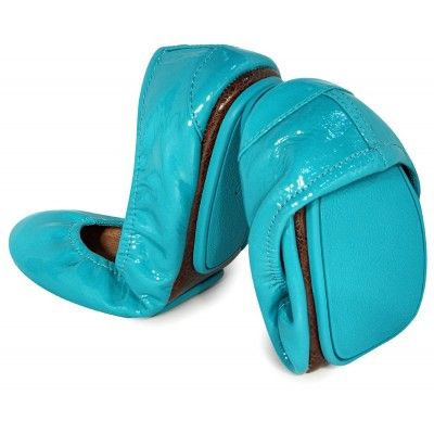 Love these patent blue Tieks - the most comfortable ballet flats ever