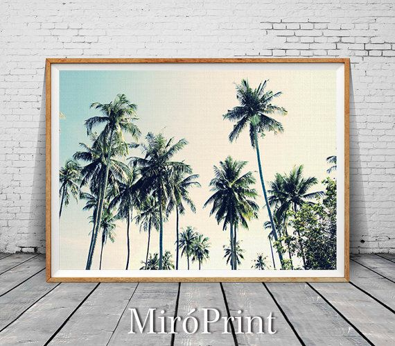 Palm Tree Print Palm Trees Photo Palms Wall Art by MiroPrint