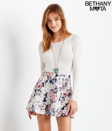 Floral Skater Skirt from Aeropostale