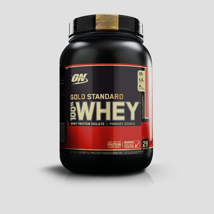 Buy Online Optimum Nutrition (ON) 100 % Whey Gold Standard Whey Protein 2lbs Delicious Strawberry