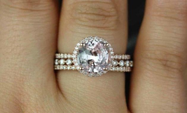 Peach Sapphire Engagement Rings Price