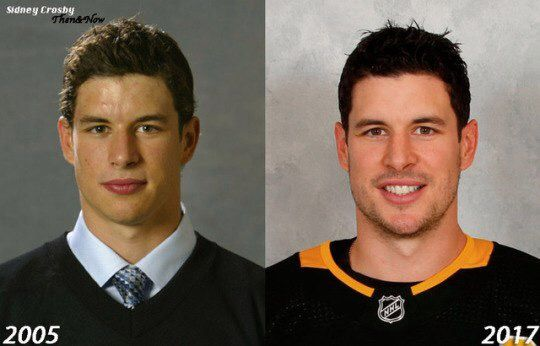Sidney Crosby 12 years of a difference