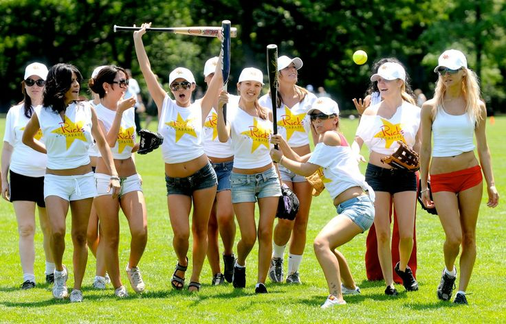 Ronnie The Limo Driver Coaches The Rick's Cabaret NYC Softball Team (Pictures)