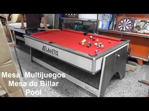Mesa multijuegos 4 en 1- mesa de ping pong - billar Pool -  air hockey c...