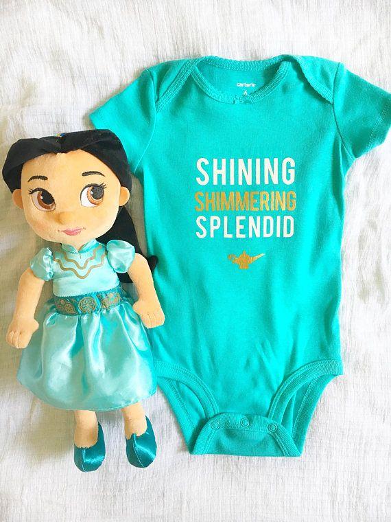 Jasmine Aladdin Shimmering Bodysuit/Iron-On