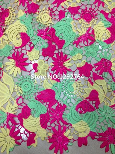 Free shipping! TS675 Wholesale price  5 yards High qualityCupion / Guipure lace fabric 100%  polyester
