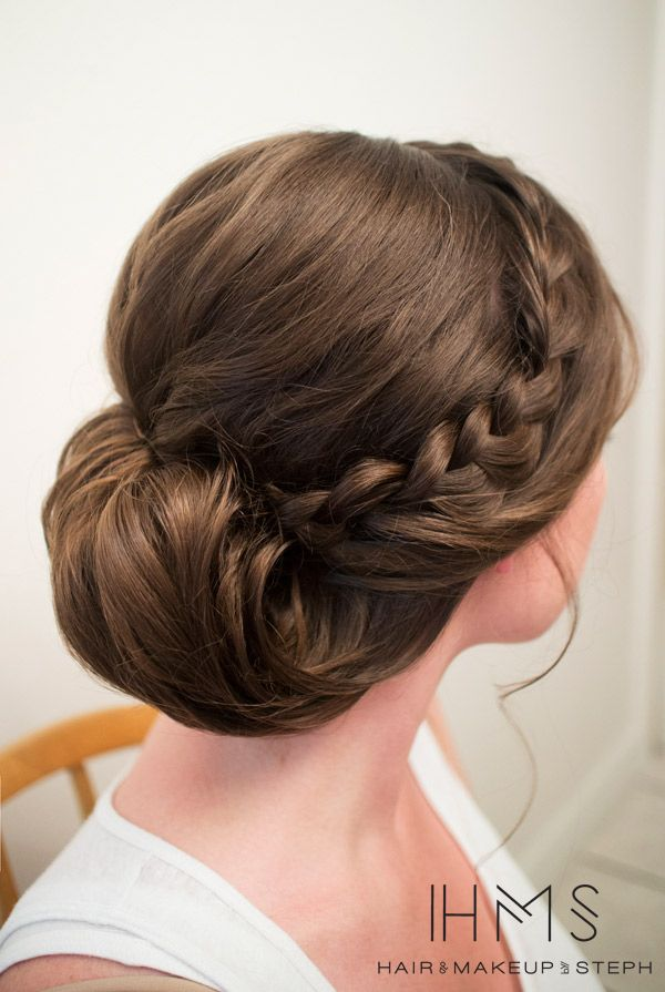 Another pretty updo complete with a braid. Hair and Make-up by Steph: Behind the Chair X.  #hair #updo #braid