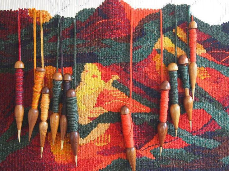 tapestry weaving with bobbins                                                                                                                                                                                 More
