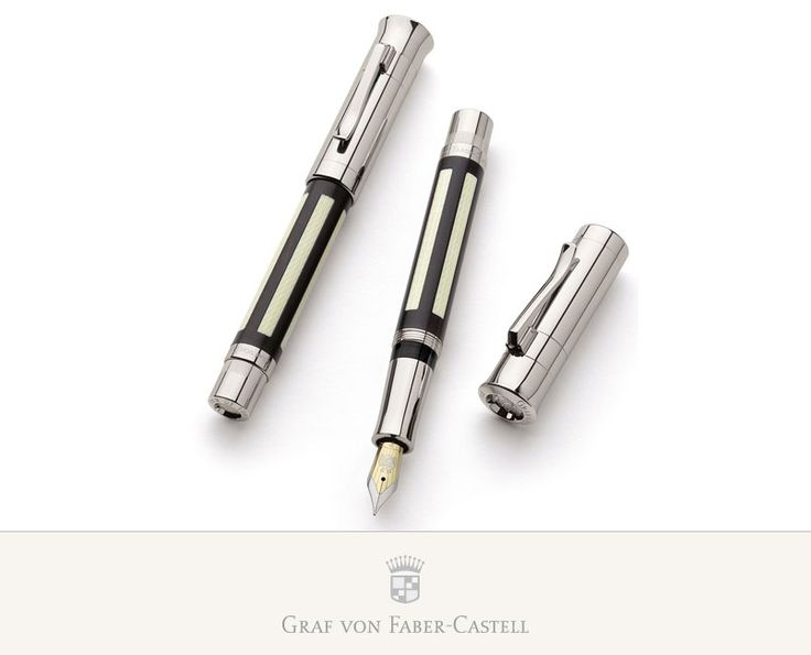 """Ivory is frequently combined with ebony, known even in antiquity as one of the most beautiful and most expensive of woods. The heartwood, very dark brown to black, shows off the creamy white of the ivory almost perfectly. This composition takes ideal shape in the """"Pen of the Year 2006"""". In elaborate inlay work, the artistically engraved pieces of ivory are let into an ebony framework."""