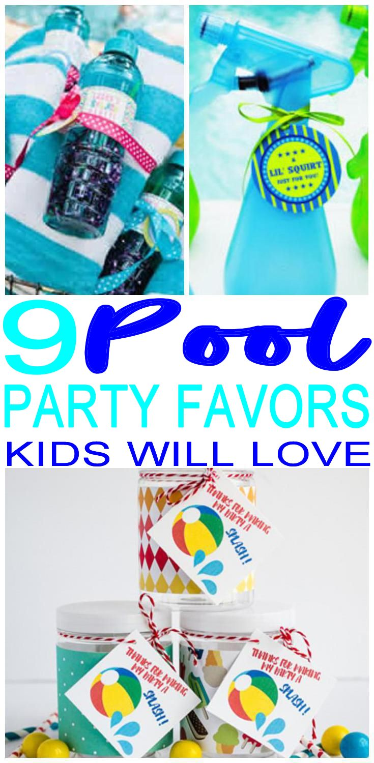 9 Completely Awesome Pool Party Favor Ideas With Images Pool