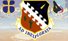 Edwards Air Force Base, Ad Inexplorata logo  #California #USAF