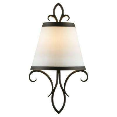 Peyton 1 Light Black Sconce Bathroom LightingWall