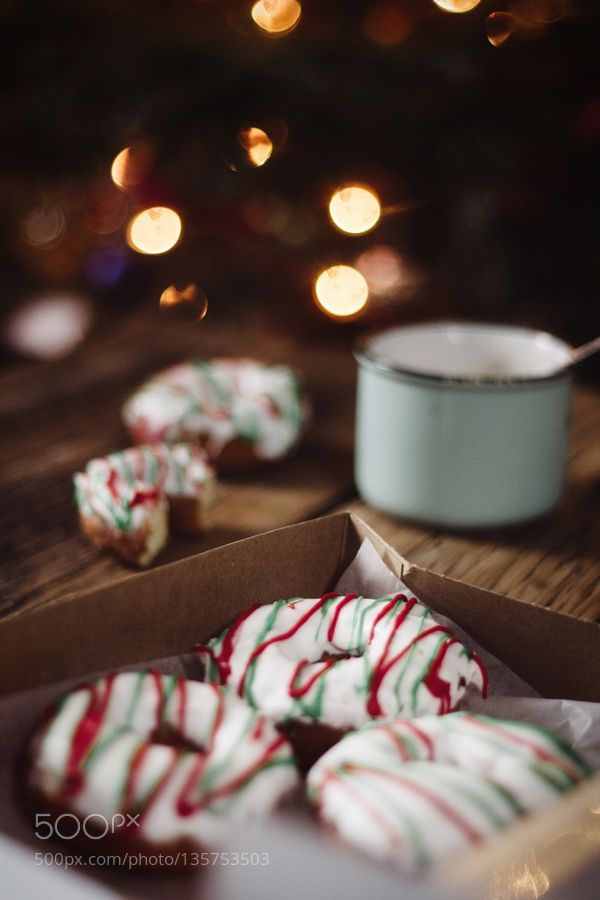 Colourful Christmas donuts by GabrielaTulian