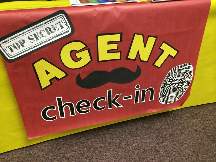 Agent Check-in sign for Agency D3 VBS
