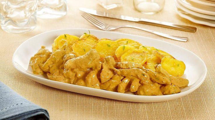 Iscas de frango com molho cremoso de mostarda e batatas assadas - HOJE TEM FRANGO | Seara