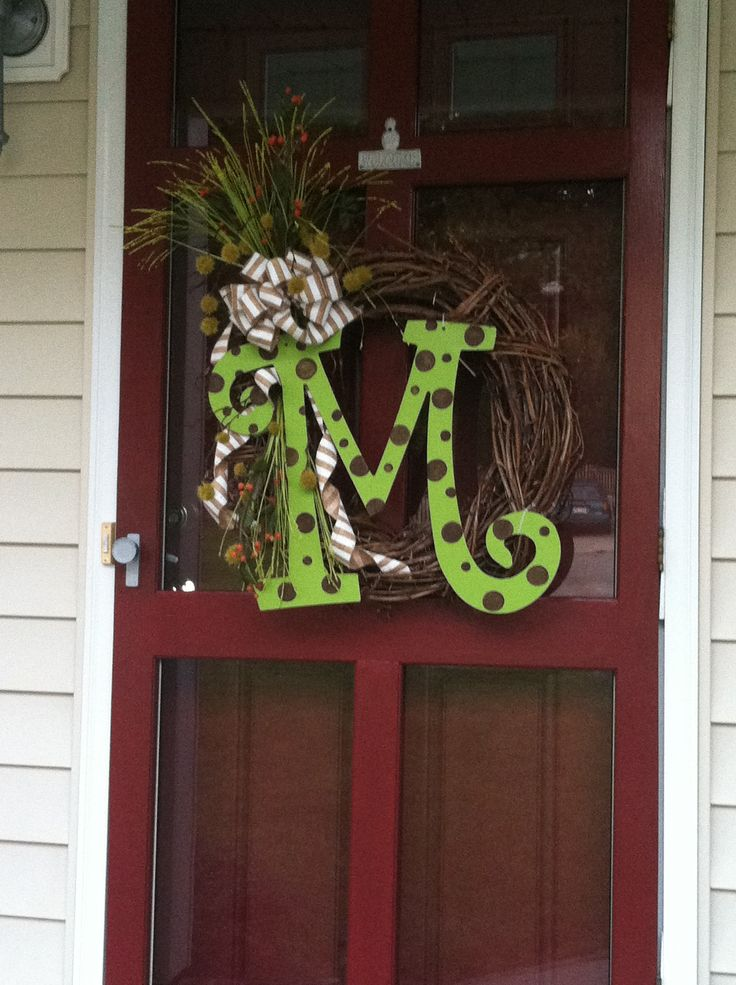 Not quite summer & not quite Fall - my front door wreath. LOVE my initial from Total Bliss - have re-used it a 100 times! Well worth the cost!