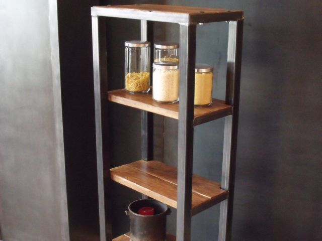 25 best ideas about etagere bois metal on pinterest. Black Bedroom Furniture Sets. Home Design Ideas
