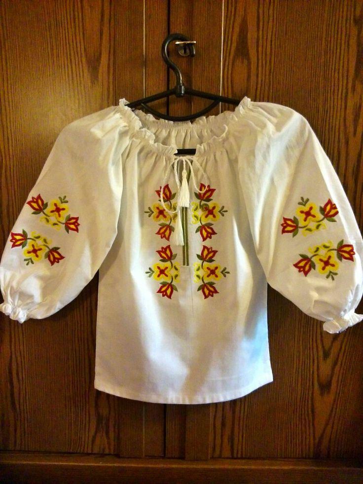 Сорочка вышитая для девочки