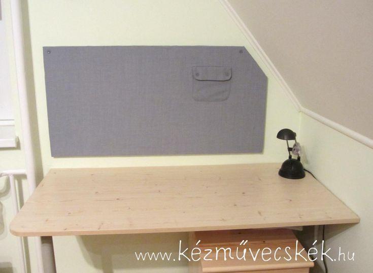 Parafatábla hungarocellből: íróasztal fölé jegyzetfal