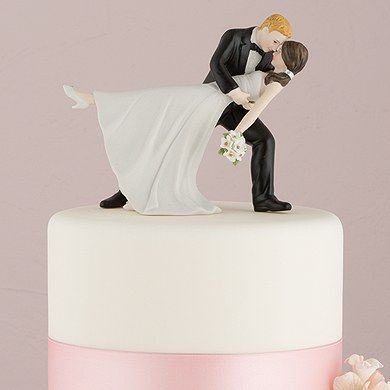 'A Romantic Dip' Dancing Bride and Groom Couple Figurine