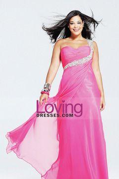 Prom Dresses Sheath/Column Floor Length One Shoulder Chiffon US$ 136.99 LDPLQQB2YF - lovingsdresses.com