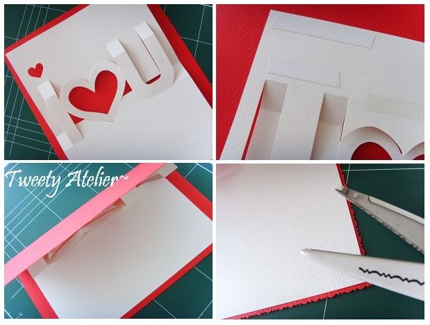 This Valentine's Day pop-up card tutorial is from Tweety Atelier. Not sure how to make it. I wish it was as simple as print and cut!