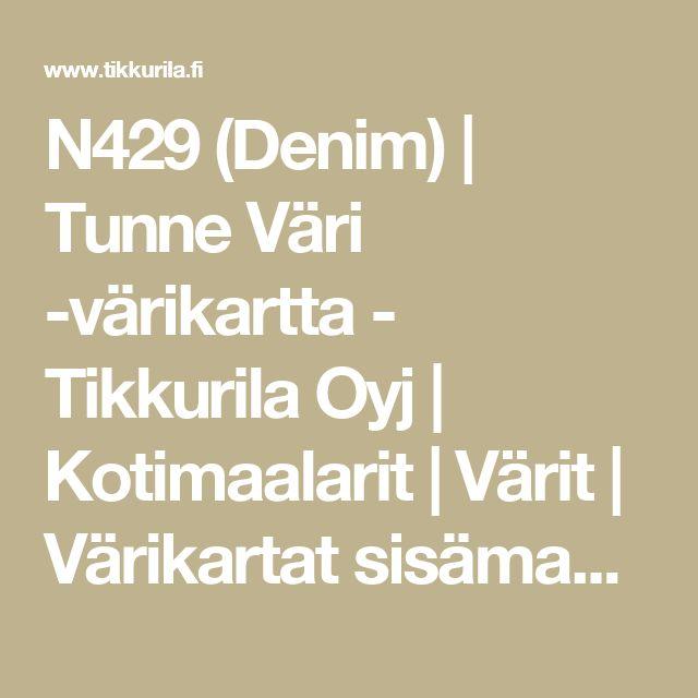 N429 (Denim) | Tunne Väri -värikartta - Tikkurila Oyj | Kotimaalarit | Värit | Värikartat sisämaalaukseen