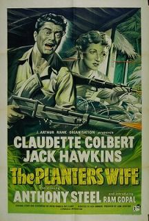 The Planter's Wife is a 1952 British drama film directed by Ken Annakin, and starring Claudette Colbert, Jack Hawkins and Anthony Steel. It is set against the backdrop of the Malayan Emergency and focuses on a rubber planter and his neighbours who are fending off a campaign of sustained attacks by Communist insurgents while also struggling to save their marriage. The film was retitled Outpost in Malaya in the USA.
