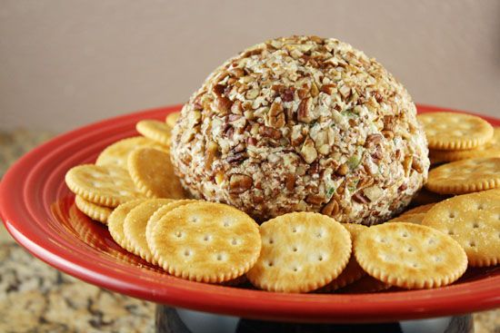 Pineapple cheeseball.  I use green onion instead of dried onion and I add a dash of cayenne pepper. LOVE this recipe