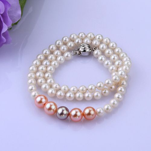AAA White Colorful Pearl Necklace