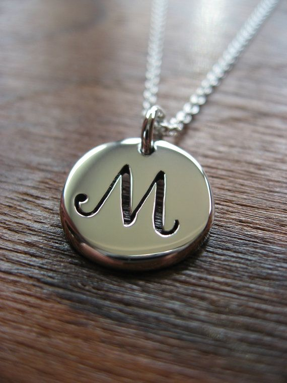 M Letter In Silver Letter M Initial Silve...