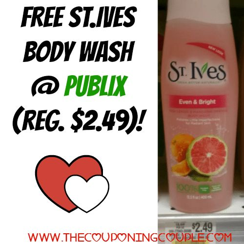 WOW!! Get your coupons together now!! FREE St. Ives Body Wash @ Publix (reg. $2.49)!  Click the link below to get all of the details ► http://www.thecouponingcouple.com/free-st-ives-body-wash-publix-reg-2-49/ #Coupons #Couponing #CouponCommunity  Visit us at http://www.thecouponingcouple.com for more great posts!
