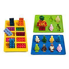 Lego Mold Silicone. Yellow Building Brick & Blue & Green Multi-size Minifigure Silicone Ice Tray Candy Mold Set (Blue/Green/Yellow, 1).  #lego #mold #silicone #legomold #moldsilicone