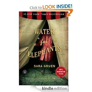 Water for Elephants, by Sara Gruen.     I didn't need to see the movie.  I saw it all in my mind as I read this colorful, poignant story.  Loved it....Jill