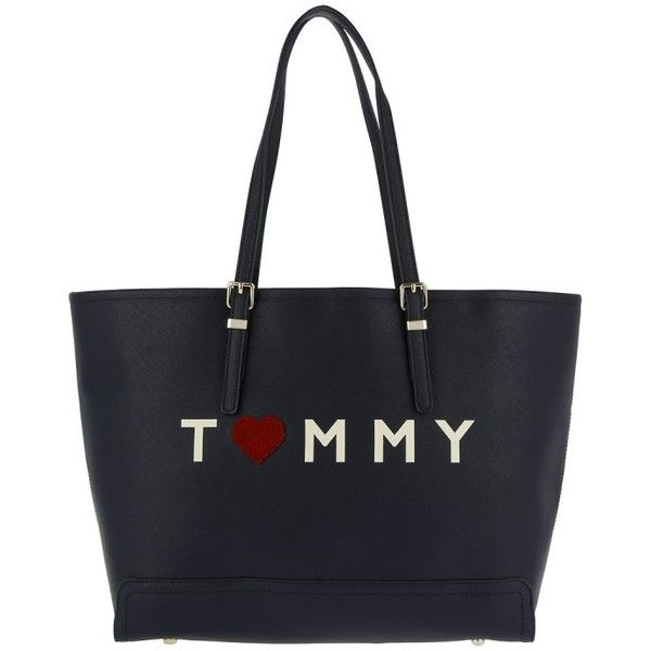 Tommy Hilfiger Handle Bag - Honey EW Tote Love Tommy Tommy Navy - in... (£145) ❤ liked on Polyvore featuring bags, handbags, tote bags, blue, navy blue tote, tote purses, tommy hilfiger tote bag, navy tote and tommy hilfiger tote