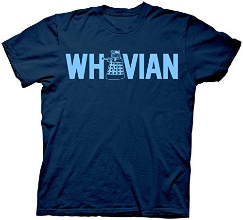Dr. Doctor Who Whovian With Dalek Adult T-shirt Navy 2XL @ niftywarehouse.com #NiftyWarehouse #DoctorWho #DrWho #Whovians #SciFi #ScienceFiction #BBC #Show #TV