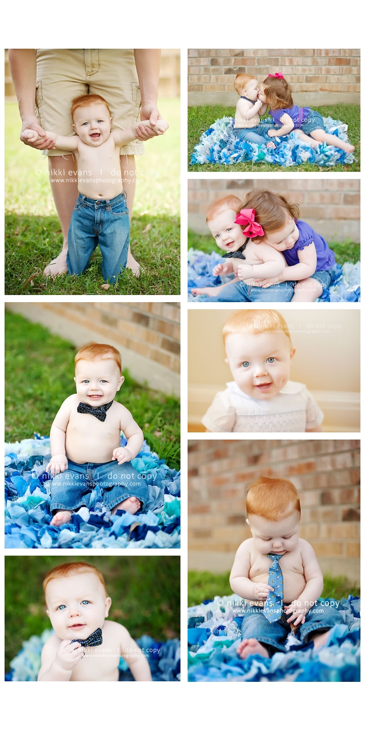 8 month old baby outdoor portrait session