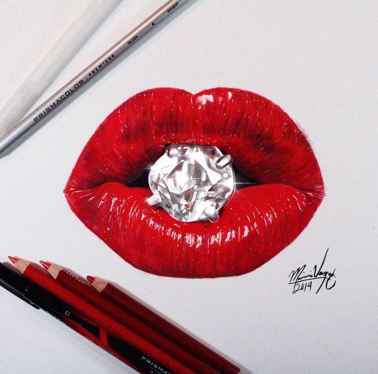 realistic lips color pencil drawing. Read full article: http://myartmagazine.com/realistic-lips-color-pencil-drawing | more http://myartmagazine.com/images/color-pencil-drawings | Follow us www.pinterest.com/myArtMagazine