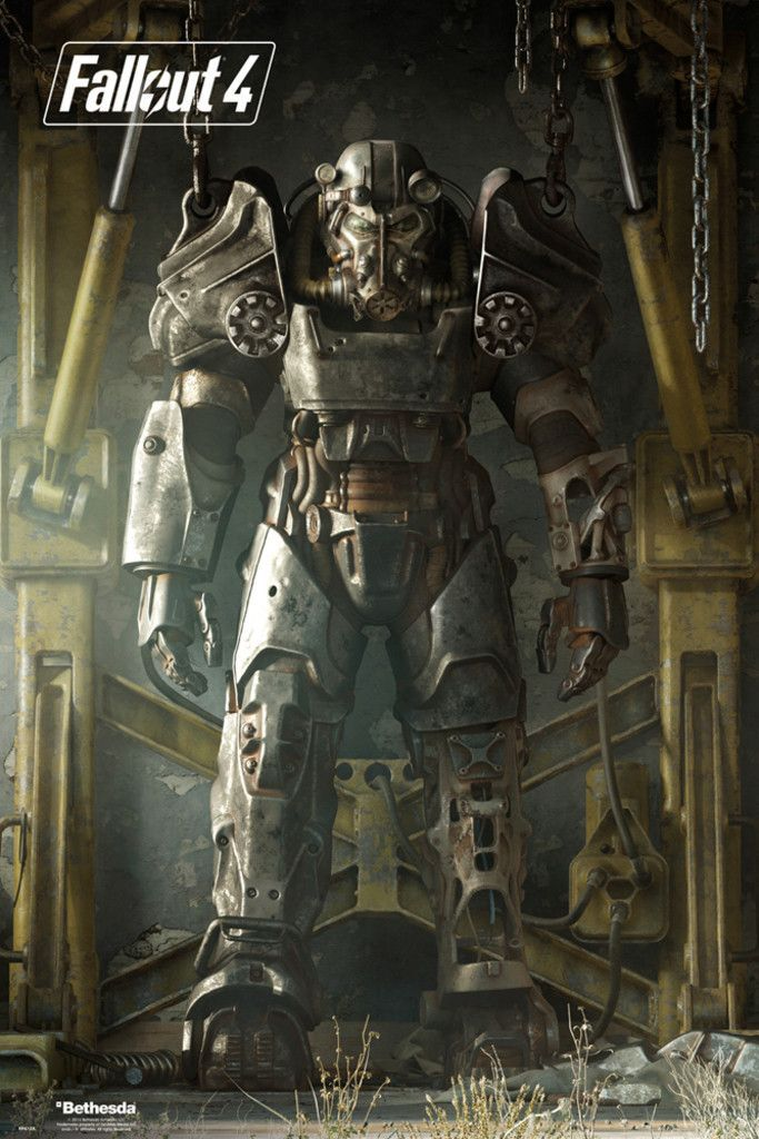 Fallout 4 Key Art Poster - Official Poster. Official Merchandise. Size: 61cm x 91.5cm. FREE SHIPPING