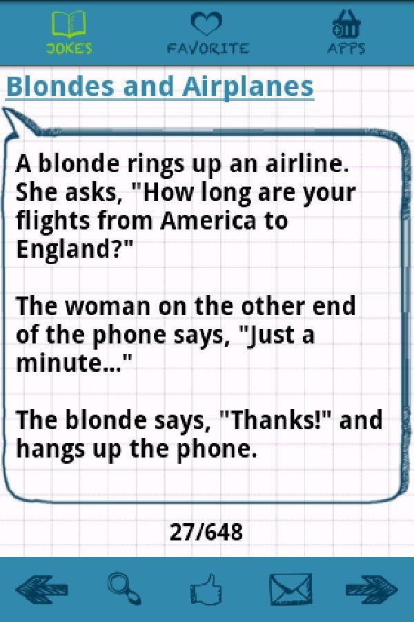 A short flight-Best blonde jokes