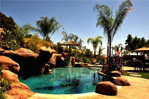 17 best ideas about tropical backyard landscaping on pinterest tropical backyard florida for Natural swimming pools los angeles