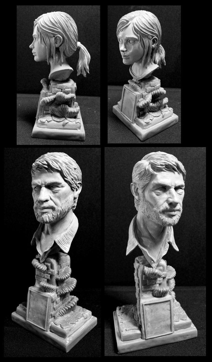The Last of us Ellie and Joel 1/4 scale bust's by Leebea.deviantart.com on @DeviantArt