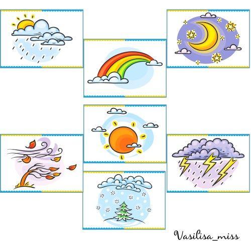 Демонстрационные картинки для детей - Явления природы