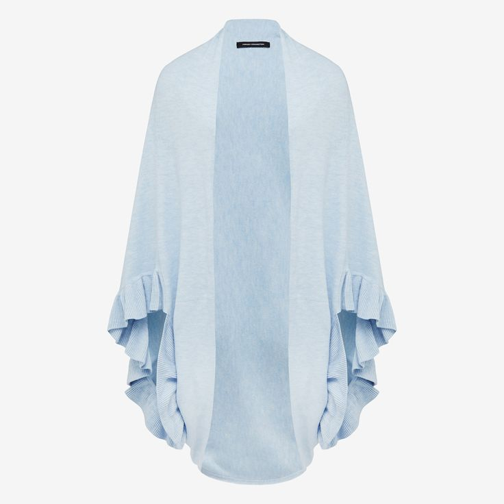 Our Ruffle wrap is great addition to your causal wardrobe due to teh soft cashmere like yarn. This versatile piece is perfect for trans-seasonal dressing and looks great styled back with jeans and simple knit combo.  Available in this seaons must have colours. 100% ACRYLIC. Cold hand wash separately.