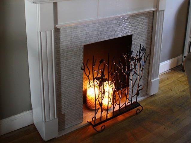 Candle virtual fireplace
