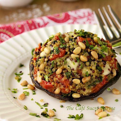 Quinoa & Spinach Stuffed Portabellos