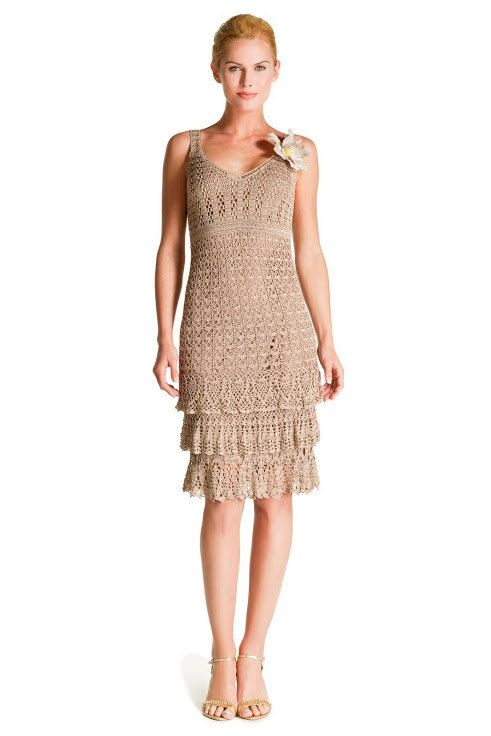 elegant crochet dress pattern pdf and made to order by marifu6a, $3.99