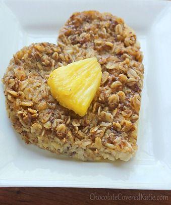 Heart Shaped Baked Oatmeal: http://chocolatecoveredkatie.com/2013/05/15/sunshine-breakfast-baked-oatmeal-recipe/